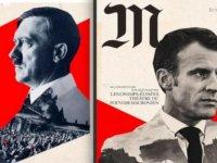 Fransa'da Cumhurbaşkanı Macron'u Hitler'e benzeten afişlerle ilgili soruşturma başlatıldı