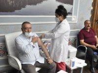 Şanlıurfa'da Kovid-19 karşı aşılama çalışmaları