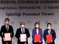 """SGK ile 3 banka arasında, emekli olabilecek sigortalılara yönelik """"kredi iş birliği protokolü"""" imzalandı"""