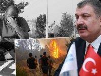 Sağlık Bakanı Koca, yangın bölgelerindeki son durumu paylaştı: