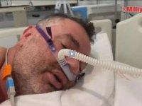 Sağlık Bakanı Koca, Kovid-19 tedavisi gören bir hastanın görüntüsünü paylaştı