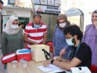 Midyat'ta Kovid-19'a karşı aşılama çalışmaları sürüyor