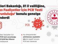 """İçişleri Bakanlığı, 81 il valiliğine, """"Bazı Faaliyetler İçin PCR Testi Zorunluluğu"""" konulu genelge gönderdi"""