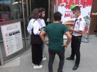 Karabük'te karantina ihlali yapan kişi, AVM girişinde yakalandı