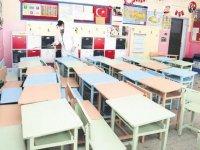 Çubuk'ta okullar yüz yüze eğitim için dezenfekte edildi
