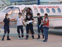 Siirt'te kalp rahatsızlığı bulunan bebek ambulans uçakla İstanbul'a sevk edildi