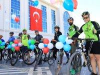 """Malatya'da """"Avrupa Hareketlilik Haftası"""" kapsamında pedal çevrildi"""