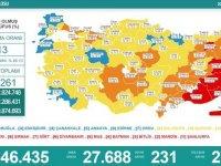 Türkiye'de 27 bin 688 kişinin Kovid-19 testi pozitif çıktı, 231 kişi hayatını kaybetti
