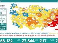 Türkiye'de 27 bin 844 kişinin Kovid-19 testi pozitif çıktı, 217 kişi hayatını kaybetti
