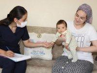 """Yüreğir'de """"Hoş Geldin Bebek Projesi"""" ile 6 bin 300 aile ziyaret edildi"""