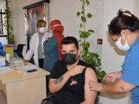 Germencik'teki Yamantürk Meslek Yüksekokulu'nda aşı ve organ bağışı etkinliği düzenlendi