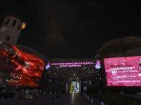 Ankara'da 20 farklı nokta, meme kanseri farkındalığı için pembe renkle aydınlatıldı