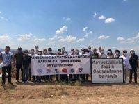 Kovid-19'dan hayatını kaybeden sağlık çalışanları için hatıra ormanı oluşturuldu