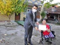 Karabük'te bedensel engelli kadın okuma azmiyle engel tanımadı