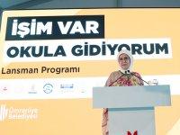"""Emine Erdoğan """"İşim Var. Okula Gidiyorum"""" projesinin tanıtımına katıldı:"""