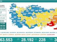 Türkiye'de 28 bin 192 kişinin Kovid-19 testi pozitif çıktı, 228 kişi hayatını kaybetti
