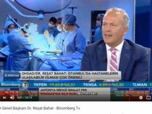 Reşat Bahat sağlık yatırımları ve maliyetleri üzerine konuştu